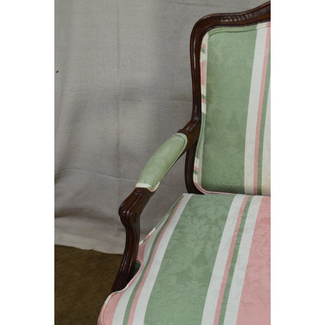 1990s French Louis XV Style Custom Quality Fauteuil Arm Chair For Sale - Image 5 of 13