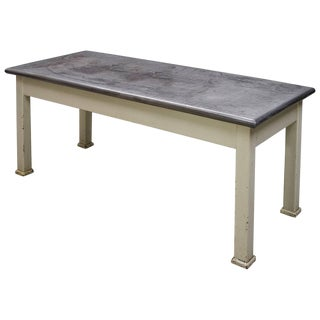 Farmhouse Kitchen Island Steel Work Table Victorian Bohemian Rustic Industrial For Sale