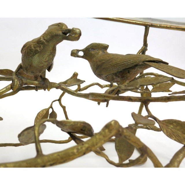 Early 20th Century Italian Brass Tree & Bird Cocktail Table For Sale - Image 5 of 5