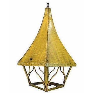 1960s Iron Pagoda Pendant Light