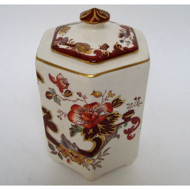 Mason's Ironstone Tea Caddy For Sale In Los Angeles - Image 6 of 8