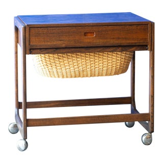 1960's Br Gelsted Denmark Sewing Cart For Sale