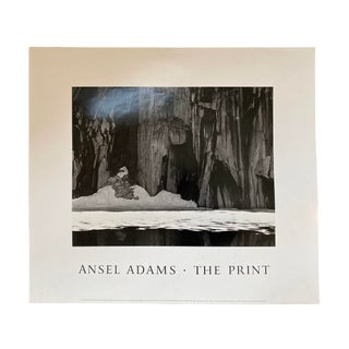 Ansel Adams Frozen Lake and Cliffs Photography Exhibition Poster For Sale