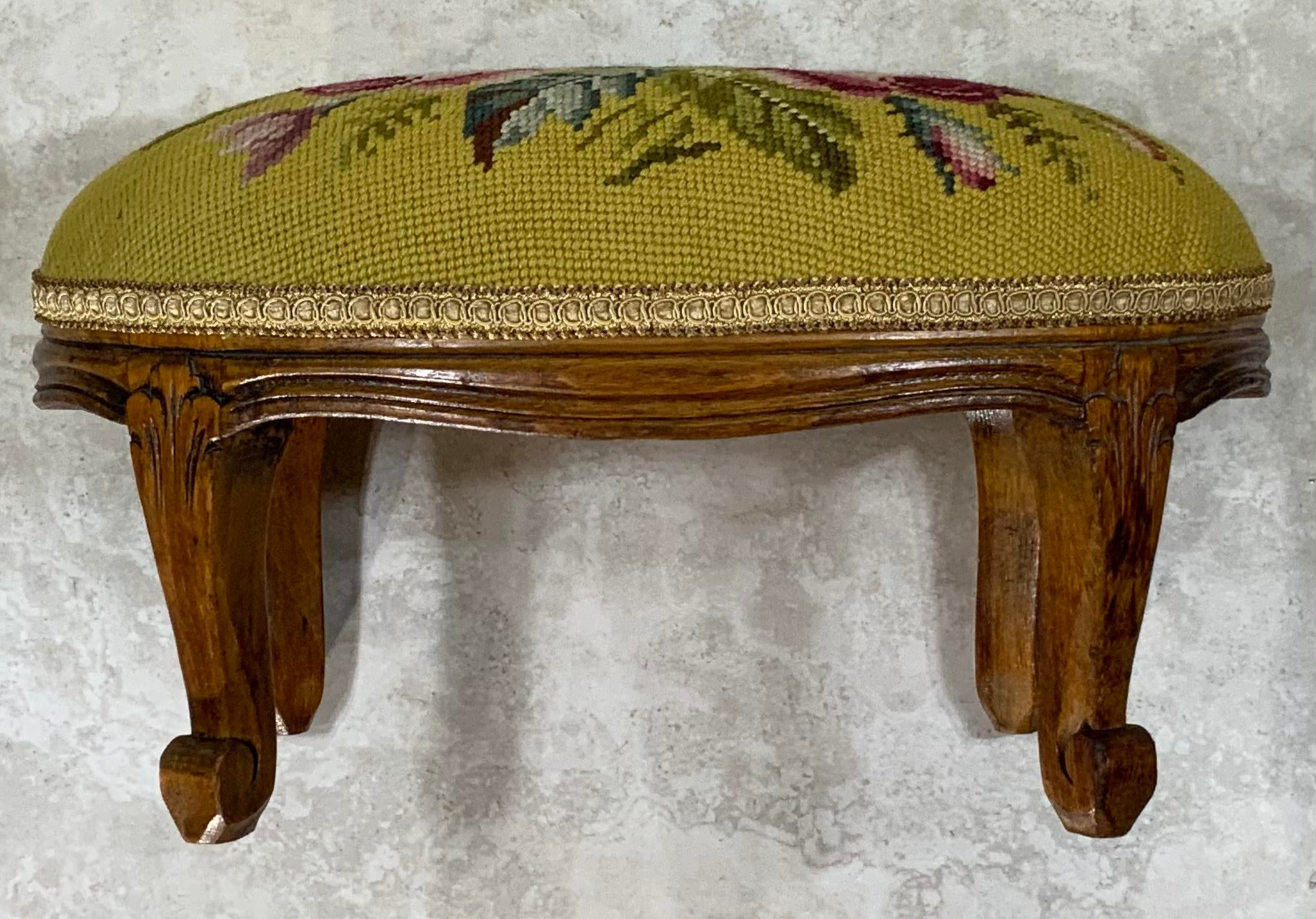 Antique Wooden Foot Stool Early 20th c.