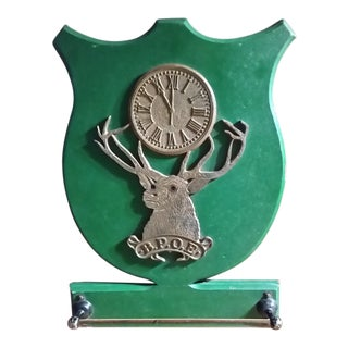 Early 20th Century Elks Lodge Green Towel Holder For Sale