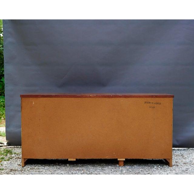 Oak Modern Nine Drawer Low Boy Dresser For Sale - Image 7 of 10