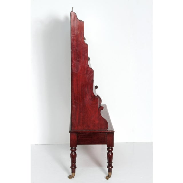 Early 19th Century Pair of English Regency Dwarf Waterfall Bookcases For Sale - Image 5 of 10