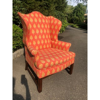 1980s Vintage Kittinger Colonial Williamsburg Wingback Chair Preview