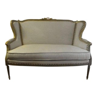 19th Century French Louis XVI Style Canape For Sale