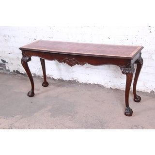 Henredon Chippendale Style Carved Mahogany Console or Sofa Table Preview