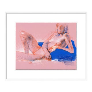 Figure 11 by David Orrin Smith in White Frame, Small Art Print For Sale