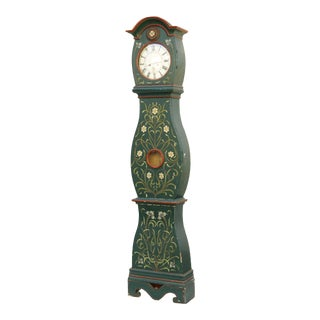 Swedish Mora Clock - Floral Details For Sale
