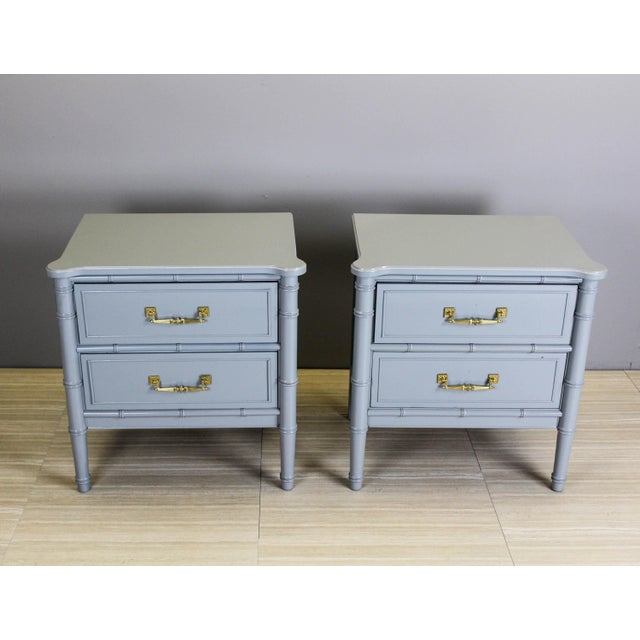 Vintage Palm Beach Style Nightstands - A Pair - Image 3 of 11