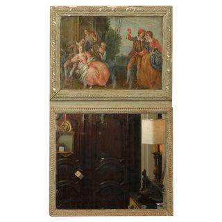 Polychrome French Trumeau For Sale