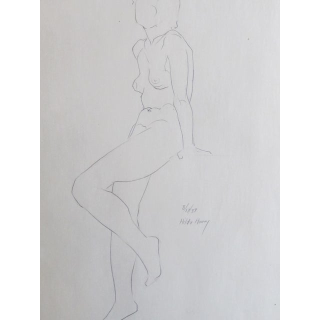 Seated Nude Sketch - Image 3 of 4