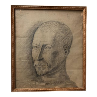 Early 20th Century Antique French Framed Drawing For Sale