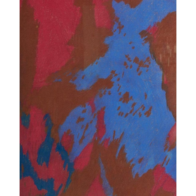 Late 20th Century Colorful Chalk Pastel Abstract by Oscar Murillo For Sale - Image 5 of 8