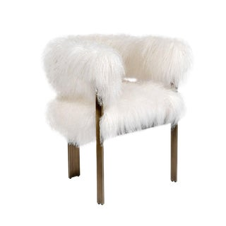 Darcy Chair - Ivory Sheepskin For Sale