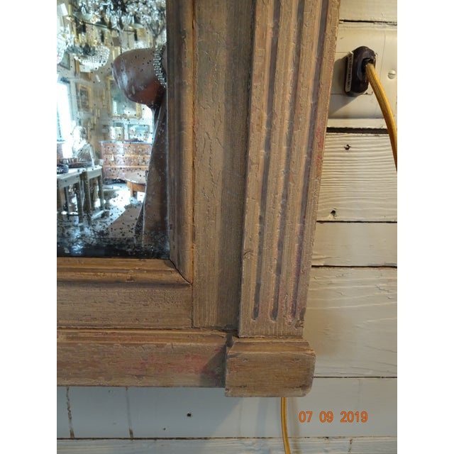 Wood 19th Century French Oak Mirror For Sale - Image 7 of 11