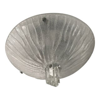 Frosted Glass Chrome Flush Mount Ceiling Light For Sale