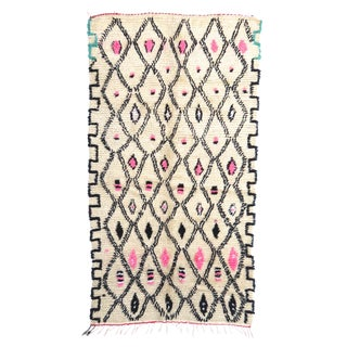 1980s Azilal Moroccan Rug - 4′4″ × 7′5″ For Sale