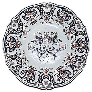 French Faience Plate For Sale