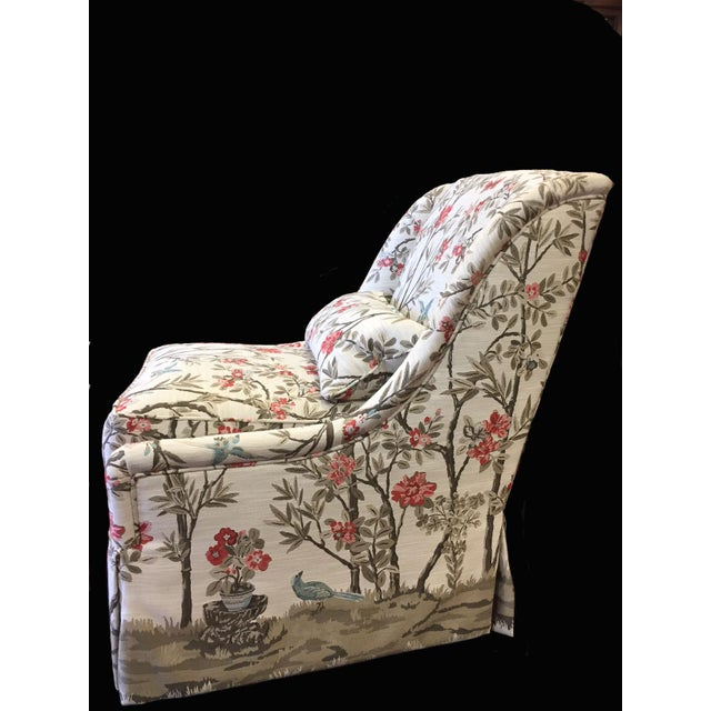 Contemporary Modern Pearson Upholstered Chair For Sale - Image 3 of 5