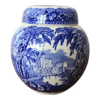 English Masons Blue and White Ginger Jar For Sale