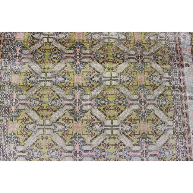 6.7x9.4 Feet Oriental Turkish Antalya Vintage Rug - Image 5 of 9