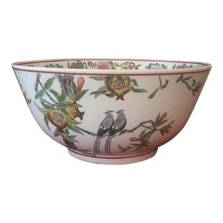 Vintage Hand Painted Bowl From Macau For Sale