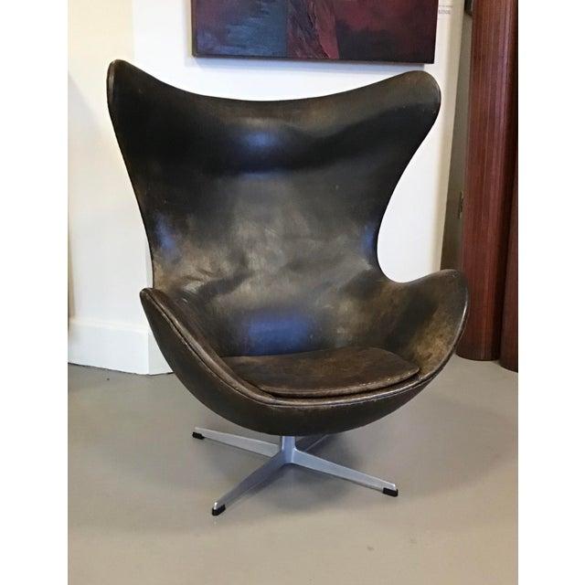 Early Arne Jacobsen for Fritz Hansen Egg Chair For Sale - Image 10 of 10