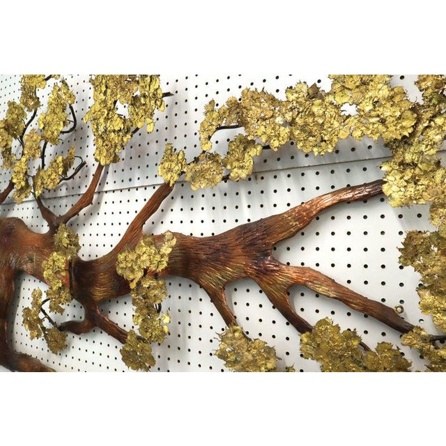Mid-Century Modern large oversize metal wall sculpture attributed or in style of Curtis Jere.