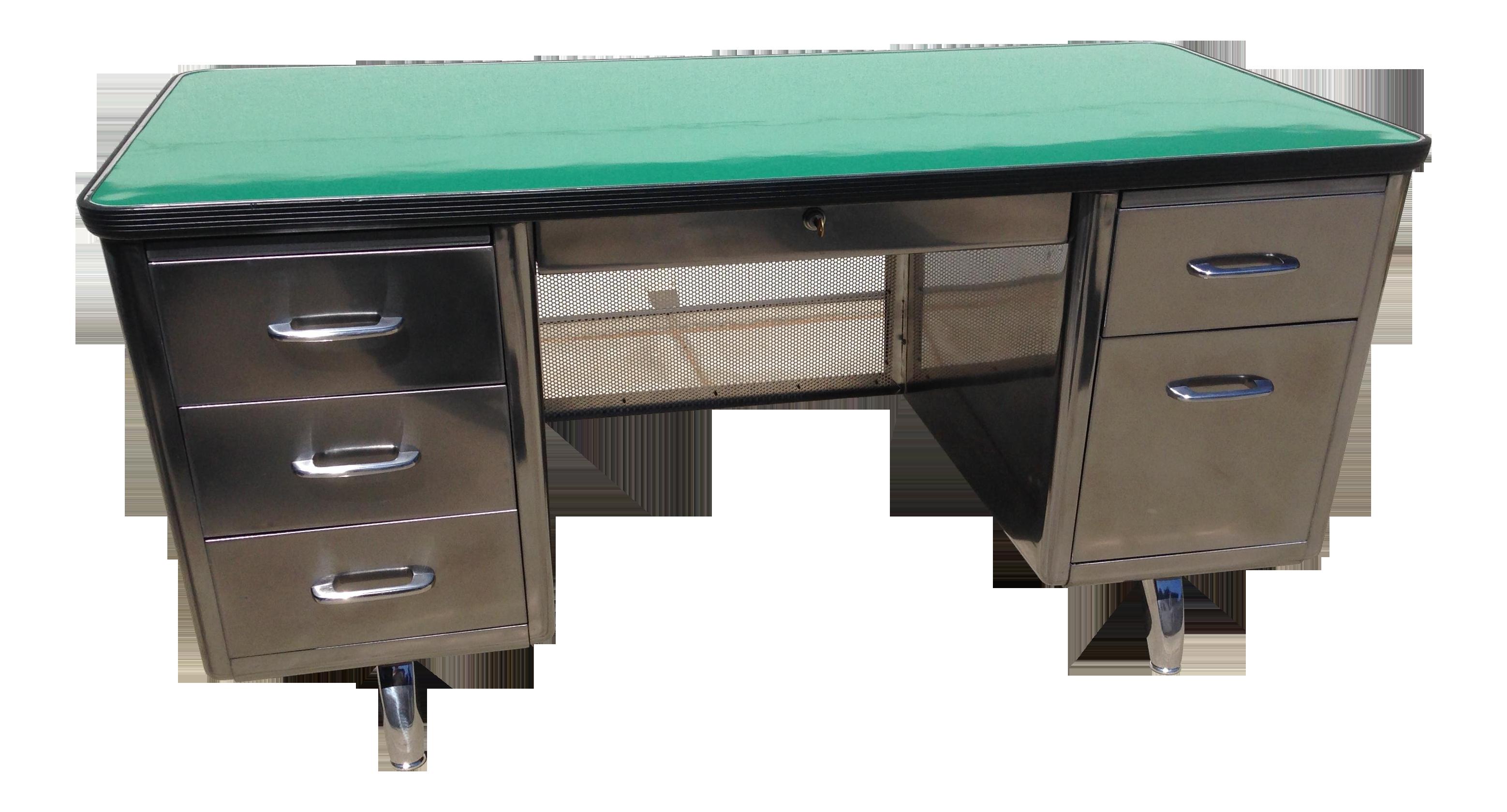 vintage steel furniture. Simple Steel Vintage All Steel Furniture Co Tanker Desk On
