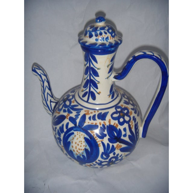 Blue & Gold Hand Painted Teapot - Image 3 of 9