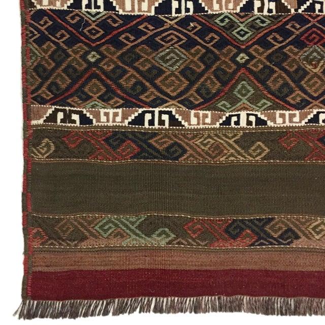 Folk Art Vintage Turkish Kilim Runner | 3'5 x 17' Flatweave For Sale - Image 3 of 5