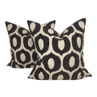 Embossed Velvet Pillows – a Pair For Sale