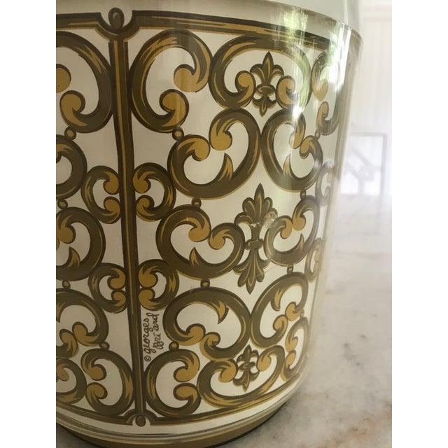 Mid-Century Modern 1980s Mid-Century Modern George Briard Fleur De Lis Ice Bucket For Sale - Image 3 of 10