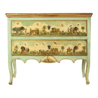 Early 20th Century Italian Lacca Povera Commode