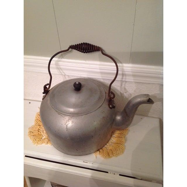 Antique Aluminum Tea Kettle - Image 2 of 7