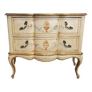 Early 20th Century Antique Italian Louis XV Style Commode Dresser For Sale