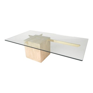Mid-Century Modern Travertine Coffee Table by Artedi For Sale