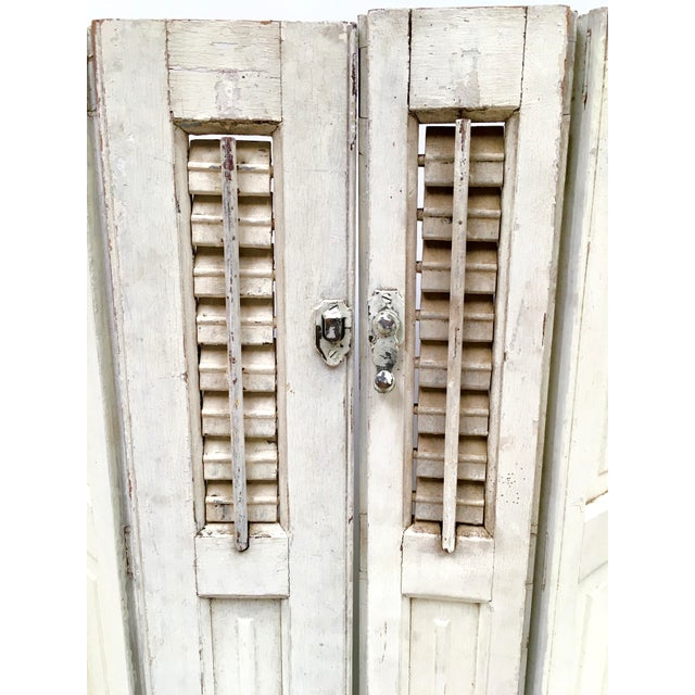 1940s Vintage French Mini Trifold Shutters - A Pair For Sale - Image 5 of 9