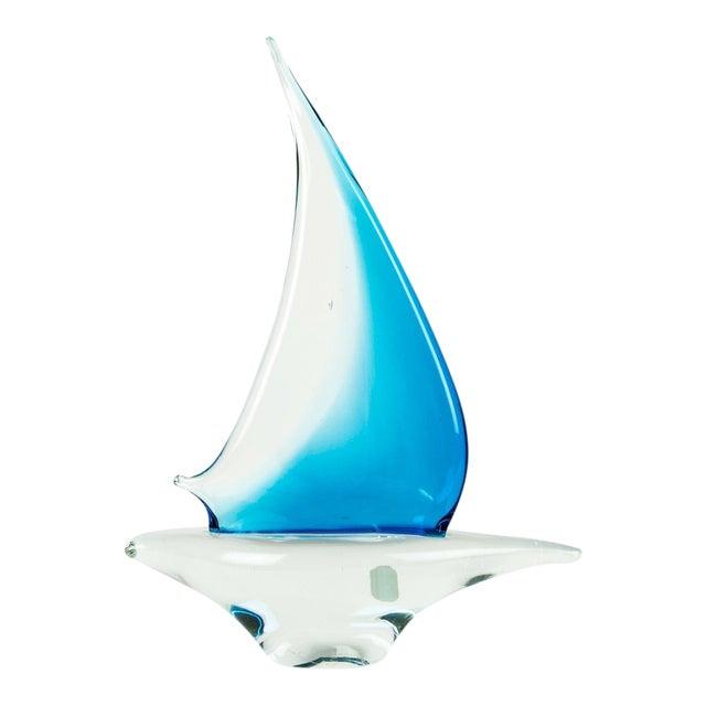 Murano Glass Decorative Boat Piece For Sale