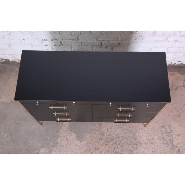 Paul McCobb for Calvin Furniture Ebonized Dresser For Sale - Image 9 of 12