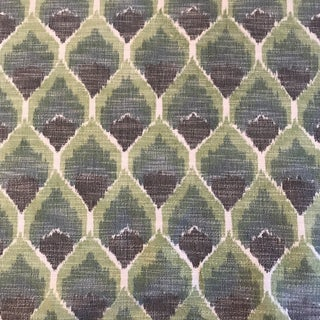 Schumacher Odisha Ikat Green Fabric - 5 Yards For Sale