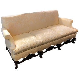 Late 19th Century Jacobean Style Hand-Carved Walnut Sofa