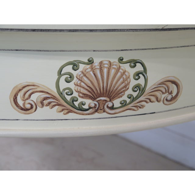 Adam Style Paint Decorated Demi-lune Console Table For Sale - Image 4 of 11