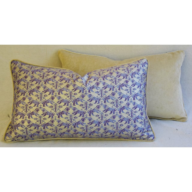 Designer Italian Mariano Fortuny Richelieu Feather/Down Pillows - a Pair - Image 10 of 11