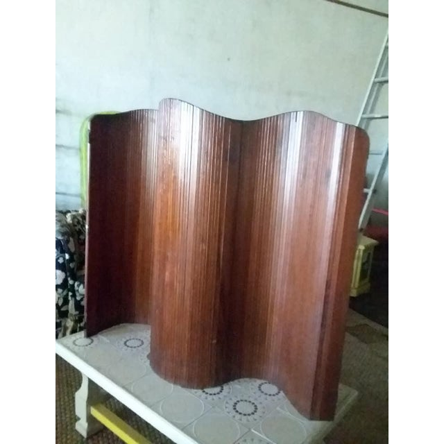 Brown French Slatted Wood Room Divider For Sale - Image 8 of 8