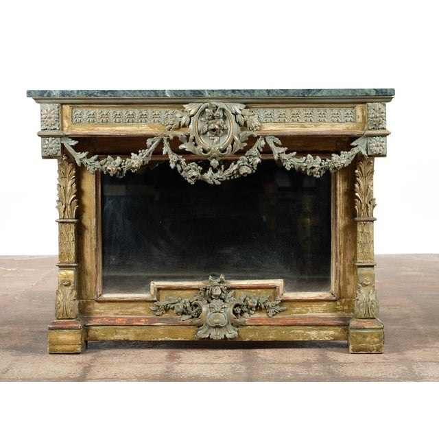 19th-Century French Marble Top Console - Image 8 of 10